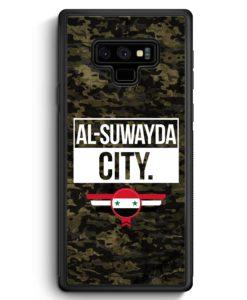 Samsung Galaxy Note 9 Hülle Silikon - Al Suwayda City Camouflage Syrien