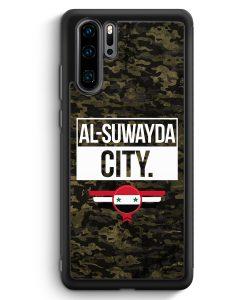 Huawei P30 Pro Silikon Hülle - Al Suwayda City Camouflage Syrien