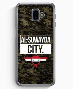 Samsung Galaxy J6+ Plus (2018) Hardcase Hülle - Al Suwayda City Camouflage Syrien