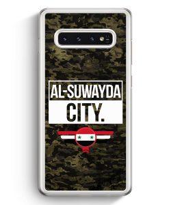Samsung Galaxy S10+ Plus Hardcase Hülle - Al Suwayda City Camouflage Syrien