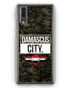 Huawei P20 Hülle Hardcase - Damascus City Camouflage Syrien