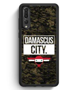 Huawei P20 Pro Hülle Silikon - Damascus City Camouflage Syrien