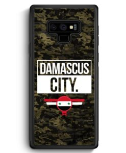 Samsung Galaxy Note 9 Hülle Silikon - Damascus City Camouflage Syrien
