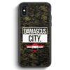 iPhone X & iPhone XS Silikon Hülle - Damascus City Camouflage Syrien