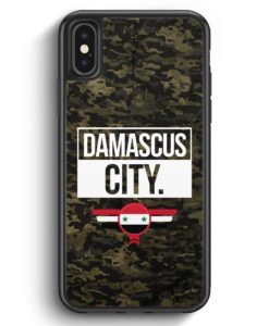 iPhone X & iPhone XS Silikon Hülle - Damascus City Camouflage Syrien