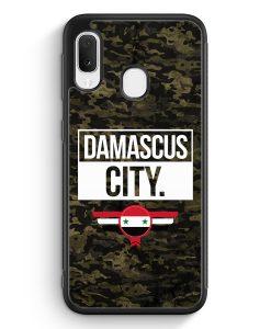Samsung Galaxy A20e Silikon Hülle - Damascus City Camouflage Syrien