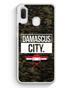 Samsung Galaxy A20e Hardcase Hülle - Damascus City Camouflage Syrien