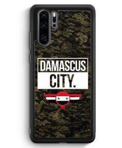 Huawei P30 Pro Silikon Hülle - Damascus City Camouflage Syrien