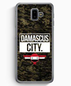 Samsung Galaxy J6+ Plus (2018) Hardcase Hülle - Damascus City Camouflage Syrien