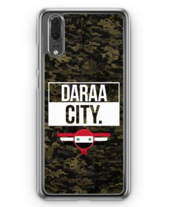 Huawei P20 Hülle Hardcase - Daraa City Camouflage Syrien