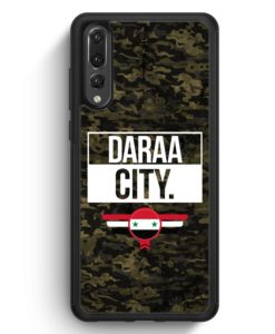 Huawei P20 Pro Hülle Silikon - Daraa City Camouflage Syrien