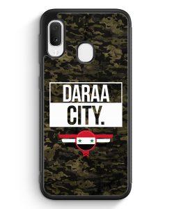 Samsung Galaxy A20e Silikon Hülle - Daraa City Camouflage Syrien
