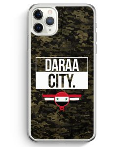 iPhone 11 Pro Max Hardcase Hülle - Daraa City Camouflage Syrien