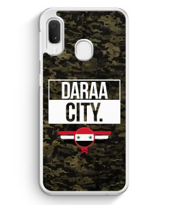 Samsung Galaxy A20e Hardcase Hülle - Daraa City Camouflage Syrien