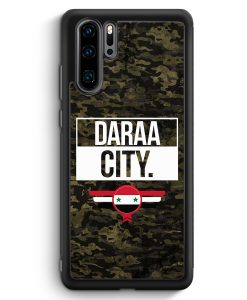Huawei P30 Pro Silikon Hülle - Daraa City Camouflage Syrien