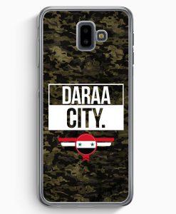 Samsung Galaxy J6+ Plus (2018) Hardcase Hülle - Daraa City Camouflage Syrien