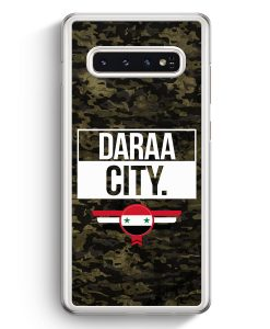 Samsung Galaxy S10+ Plus Hardcase Hülle - Daraa City Camouflage Syrien