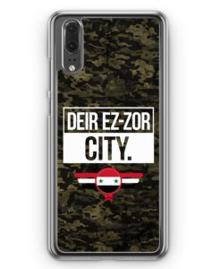 Huawei P20 Hülle Hardcase - Deir Ez Zor City Camouflage Syrien