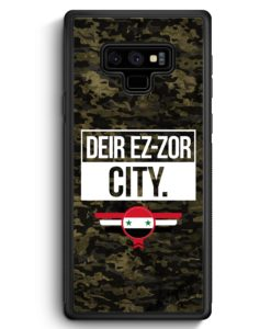 Samsung Galaxy Note 9 Hülle Silikon - Deir Ez Zor City Camouflage Syrien