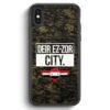 iPhone X & iPhone XS Silikon Hülle - Deir Ez Zor City Camouflage Syrien