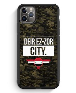 iPhone 11 Pro Max Silikon Hülle - Deir Ez Zor City Camouflage Syrien