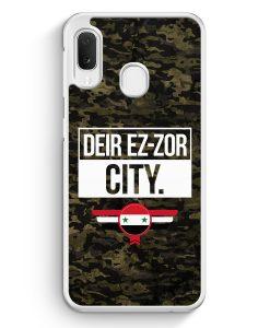 Samsung Galaxy A20e Hardcase Hülle - Deir Ez Zor City Camouflage Syrien