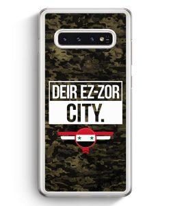 Samsung Galaxy S10+ Plus Hardcase Hülle - Deir Ez Zor City Camouflage Syrien