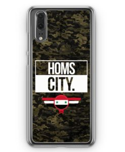 Huawei P20 Hülle Hardcase - Homs City Camouflage Syrien