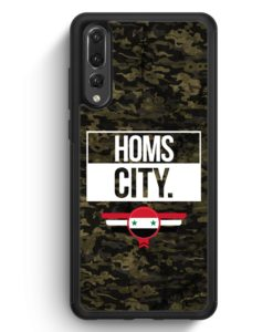 Huawei P20 Pro Hülle Silikon - Homs City Camouflage Syrien