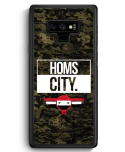 Samsung Galaxy Note 9 Hülle Silikon - Homs City Camouflage Syrien