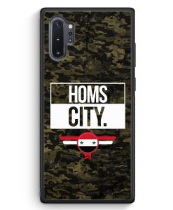 Samsung Galaxy Note 10+ Plus Silikon Hülle - Homs City Camouflage Syrien