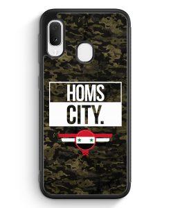 Samsung Galaxy A20e Silikon Hülle - Homs City Camouflage Syrien