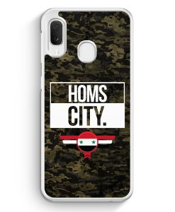 Samsung Galaxy A20e Hardcase Hülle - Homs City Camouflage Syrien