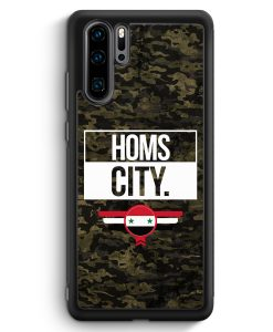 Huawei P30 Pro Silikon Hülle - Homs City Camouflage Syrien
