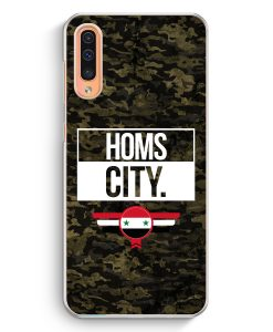 Samsung Galaxy A50 Hardcase Hülle - Homs City Camouflage Syrien