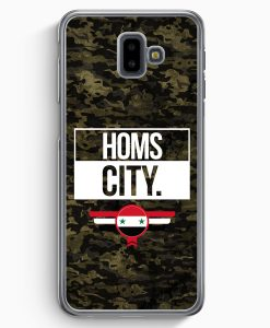 Samsung Galaxy J6+ Plus (2018) Hardcase Hülle - Homs City Camouflage Syrien