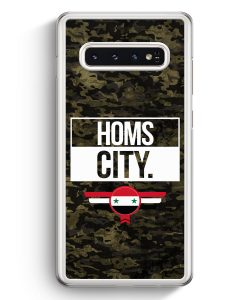 Samsung Galaxy S10+ Plus Hardcase Hülle - Homs City Camouflage Syrien