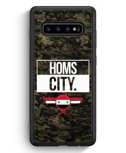 Samsung Galaxy S10e Silikon Hülle - Homs City Camouflage Syrien