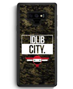 Samsung Galaxy Note 9 Hülle Silikon - Idlib City Camouflage Syrien