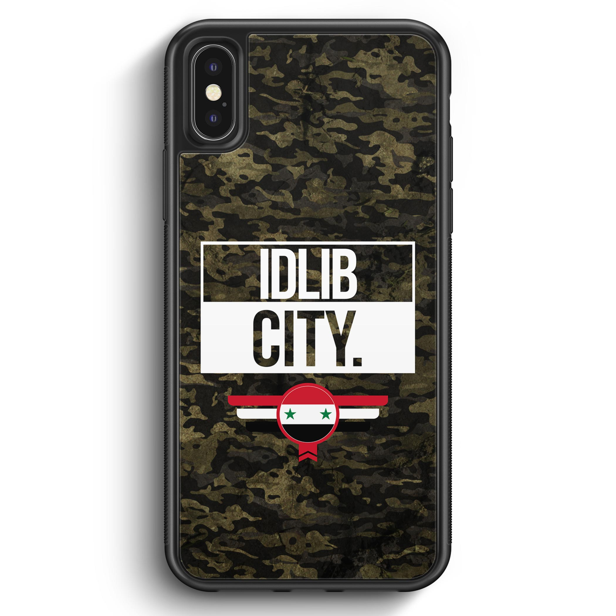 iPhone X & iPhone XS Silikon Hülle – Idlib City Camouflage Syrien