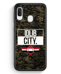 Samsung Galaxy A20e Silikon Hülle - Idlib City Camouflage Syrien