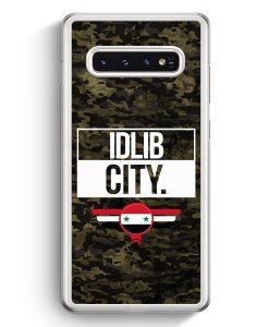 Samsung Galaxy S10+ Plus Hardcase Hülle - Idlib City Camouflage Syrien