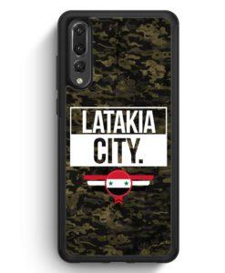 Huawei P20 Pro Hülle Silikon - Latakia City Camouflage Syrien