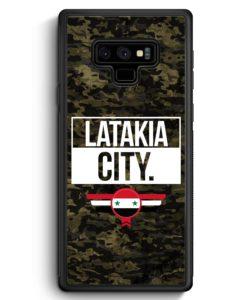 Samsung Galaxy Note 9 Hülle Silikon - Latakia City Camouflage Syrien