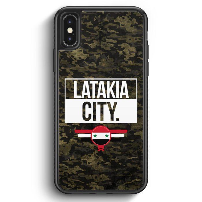 iPhone X & iPhone XS Silikon Hülle - Latakia City Camouflage Syrien