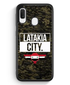 Samsung Galaxy A20e Silikon Hülle - Latakia City Camouflage Syrien