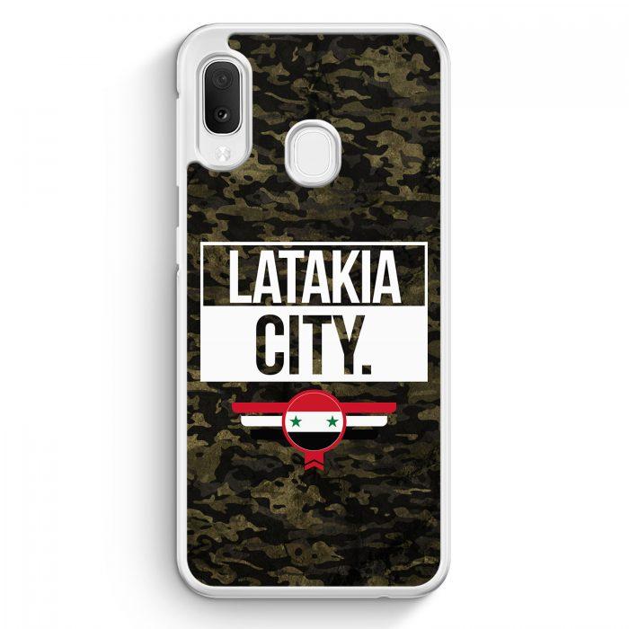 Samsung Galaxy A20e Hardcase Hülle - Latakia City Camouflage Syrien