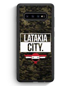 Samsung Galaxy S10e Silikon Hülle - Latakia City Camouflage Syrien