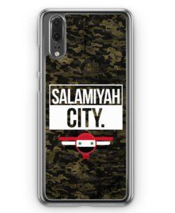 Huawei P20 Hülle Hardcase - Salamiyah City Camouflage Syrien