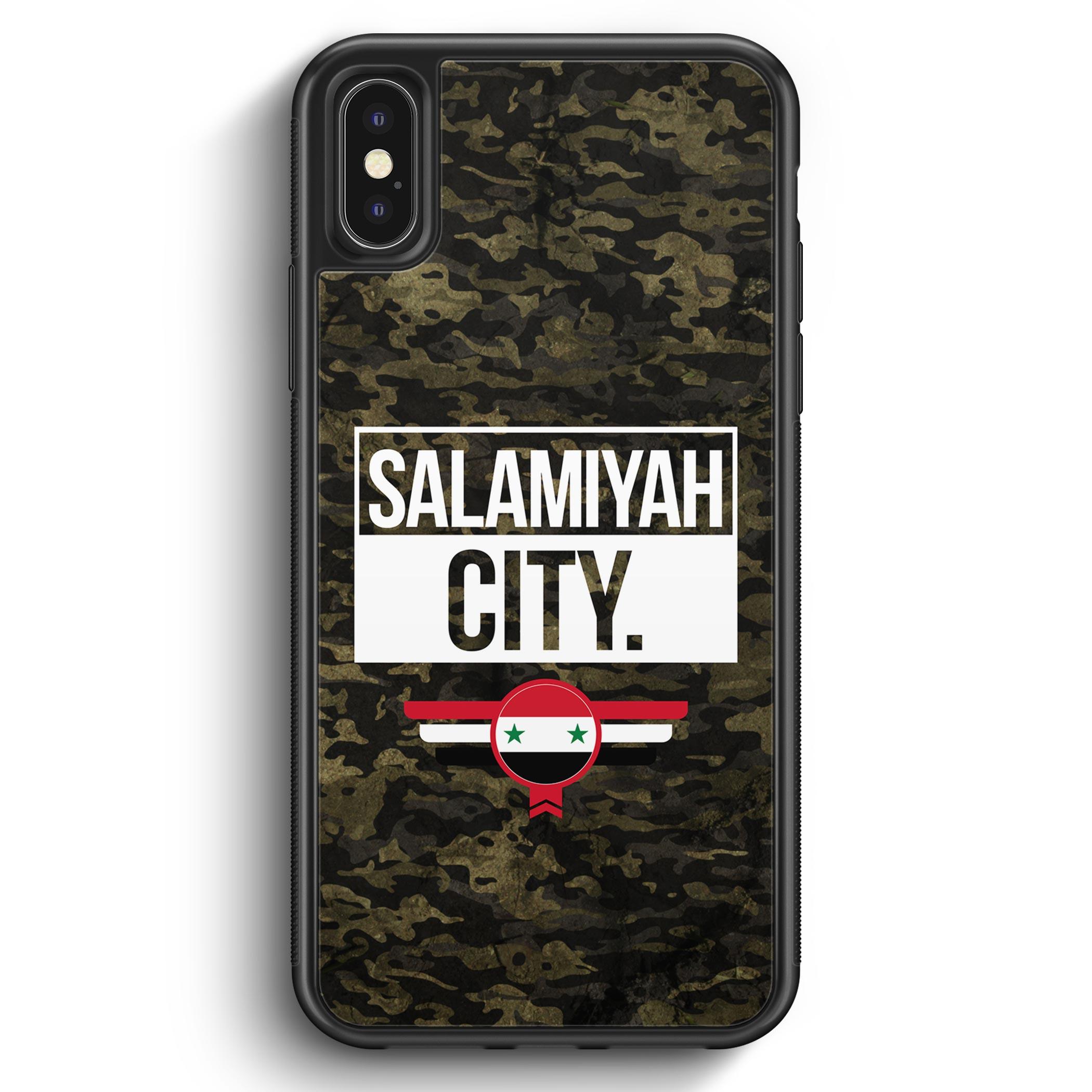iPhone X & iPhone XS Silikon Hülle – Salamiyah City Camouflage Syrien